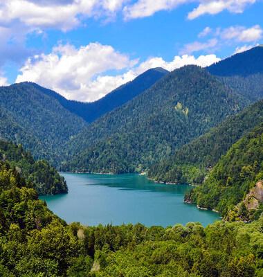 Дом отдыха Питиус в Пицунде, Абхазия, экскурсия на озеро Рица
