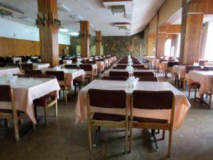 Столовая (шведский стол), Дом отдыха Питиус в Пицунде, Абхазия