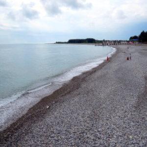 Дом отдыха Питиус в Пицунде, Абхазия, пляж
