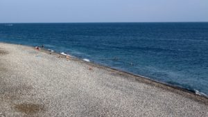 Пляж, Дом отдыха Питиус в Пицунде, Абхазия